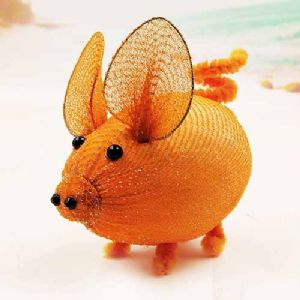 Handmade nylon product, wires and Nylon, orange, Pig, 1 Animal, 9cm x 6cm x 6cm, [SW080]